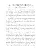 SÁNG KIẾN KINH NGHIỆM XÂY DỰNG HỆ THỐNG BÀI TẬP CHÍNH TẢ PHƯƠNG  NGỮ CHO HỌC SINH LỚP 3 Ở NGHỆ AN