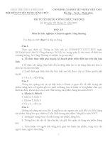 Đề thi và đáp án thi tuyển công chức chuyên ngành Công thương tỉnh Thừa Thiên Huế 2013
