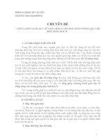 CHUYÊN ĐỀ: LỒNG GHÉP GIÁO DỤC KĨ NĂNG SỐNG CHO HỌC SINH THÔNG QUA BỘ MÔN SINH HỌC 8