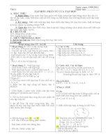 Giáo án toán số học lớp 6 chuẩn kiến thức