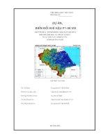 mô hình hóa mối quan hệ giữa biến đổi khí hậu và trượt lở đất ở các khu vực nghiên cứu (tỉnh quảng nam )