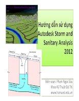 Hướng dẫn sử dụng Autodesk storm and sanitary analysis 2012