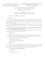 Đề thi và đáp án thi tuyển công chức chuyên ngành Tư pháp Tỉnh Thừa Thiên Huế năm 2015