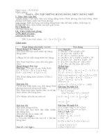 Giáo án dạy thêm toán lớp 8
