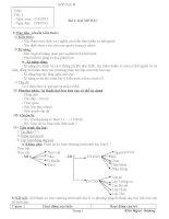 Giáo án sinh học 8 chuẩn 2014