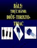 bài giảng công nghệ 12 bài 5 thực hành điôt - tirixto - triac