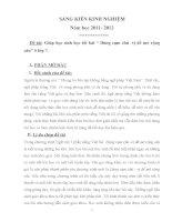 """SKKN: Giúp học sinh học tốt bài """" Dùng cụm chủ  vị để mở rộng câu"""" ở lớp 7"""