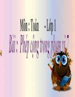 bài giảng toán 1 chương 2 bài 9 phép cộng trong phạm vi 7