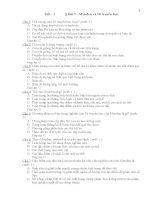 418 câu hỏi trắc nghiệm môn sinh học lớp 9 (có đáp án)