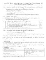 Giáo án bồi dưỡng sinh học lớp 11 (phần 1)