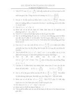 Bài tập về hàm số lớp 12