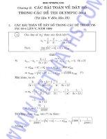 Các bài toán về dãy số trong đề thi olympic