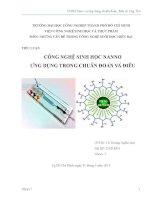 công nghệ sinh học nano và ứng dụng chuẩn đoán, điều trị ung thư