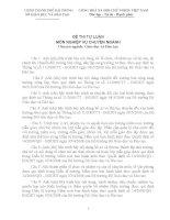 Ngân hàng câu hỏi thi công chức ngành GIÁO dục và đào tạo CH VIẾT 2013