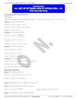 Bài tập lượng giác cơ bản và nâng cao