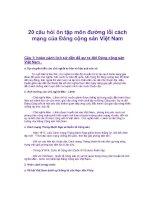 20 câu hỏi ôn tập tự luận có đáp án đường lối cm của đcsvn
