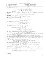 Bộ đề thi tuyển 10 môn toán có đáp án