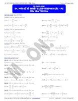 Một số kĩ thuật giải phương trình lượng giác  P2