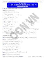 Một số kĩ thuật giải phương trình lượng giác P3