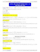 Bài tập về tương giao  bài tập khảo sát hàm số