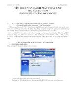 tìm hiểu vận hành máy phay cnc hệ fanuc 18im bằng phần mềm swansoft