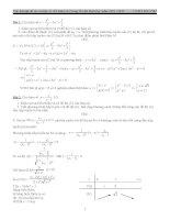 Bài tập khảo sát hàm số có lời giải