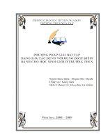 phương pháp giải bài tập dạng p2o5 tác dụng với dung dịch kiềm dành cho học sinh giỏi ở trường thcss