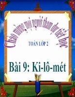 bài giảng toán 2 chương 6 bài 9 ki-lô-mét