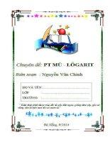 Phương trình, Bất phương trình Mũ và logarit (Tài liệu dạy thêm rất hay)