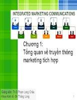 Tổng quan về truyền thông marketing tích hợp