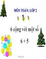 bài giảng toán 2 chương 2 bài 16 6 cộng với một số 6+5