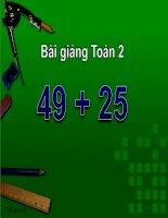 bài giảng toán 2 chương 2 bài 5 49+5