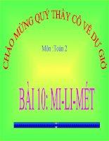 bài giảng toán 2 chương 6 bài 10 mi-li-mét