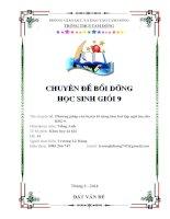 phương pháp rèn luyện kĩ năng làm bài tập ngữ âm cho hsg 9