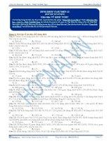 Bài tập dung dịch và sự điện li