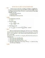bài tập nhiệt động lực học có lời giải