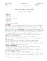 Thực hành ngoại khóa Vua hùng kén rể (kịch bản)