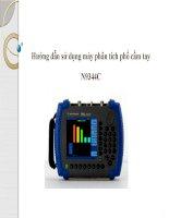 hướng dẫn sử dụng máy phân tích phổ cầm tay n9344c