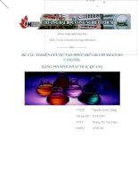 nghiên cứu sự tạo phức giữa bi với xilen da cam (xo) bằng phương pháp trắc quang