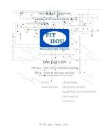 bài tập lớn phân tích và thiết kế hệ thống quản lý nhà hàng ăn uống