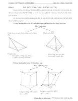 thể tích khối chóp – khối lăng trụ