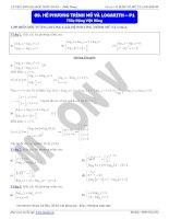 hệ phương trình mũ và logarit p1