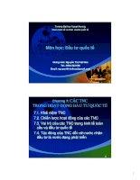 bài giảng đầu tư quốc tế chương các tnc trong hoạt động đầu tư quốc tế