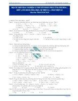 103 câu trắc nghiệm hóa học có đáp án