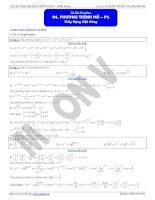 phương trình mũ p1