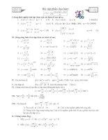Bài tập và công thức đạo hàm