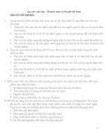 câu hỏi- bài tập – khuôn mẫu lý thuyết kế toán