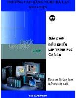 giáo trình điều khiển lập trình PLC cơ bản