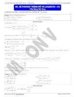 hệ phương trình mũ và logarit p2