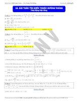 bài toán tìm điểm thuộc mặt phẳng